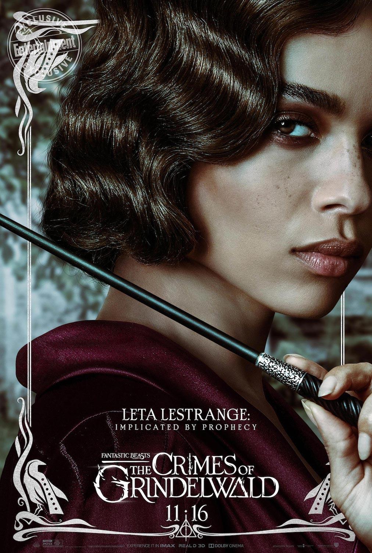 Leta Lestrange en Animales Fantásticos: Los Crímenes de Grindelwald