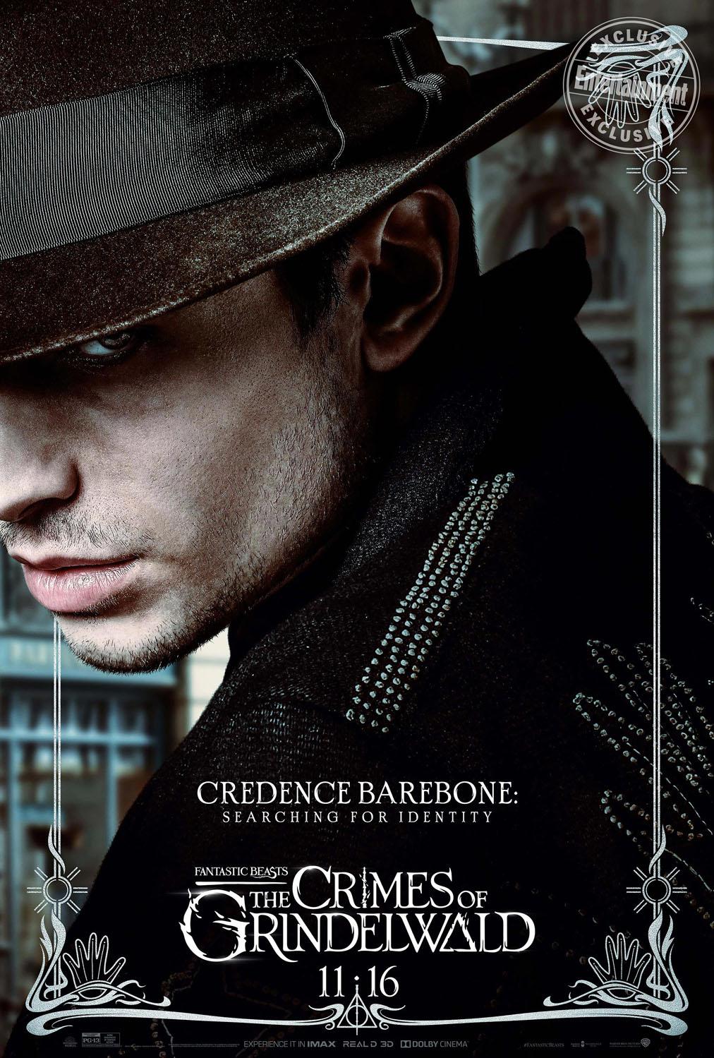 Credence Barebone en Animales Fantásticos: Los Crímenes de Grindelwald
