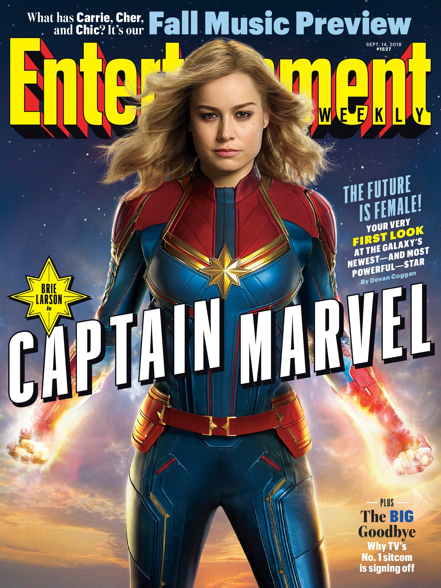 Captain Marvel protagoniza la portada de Entertainment Weekly