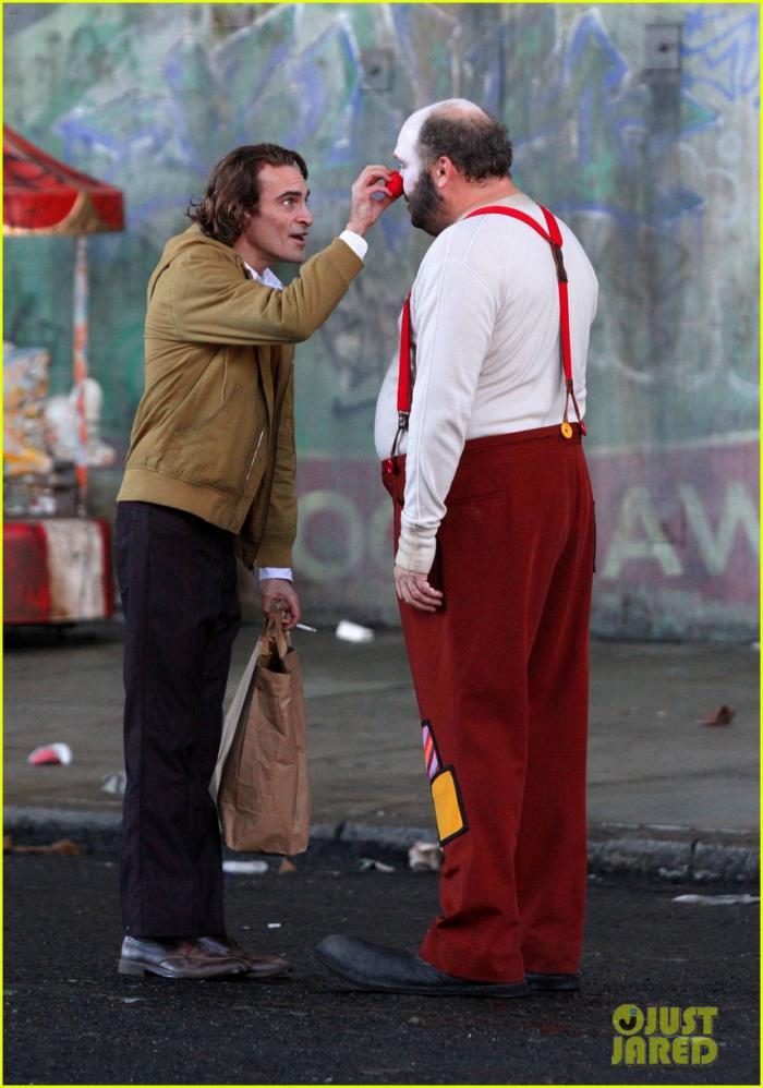 Imagen del rodaje de Joker publicada por Just Jared