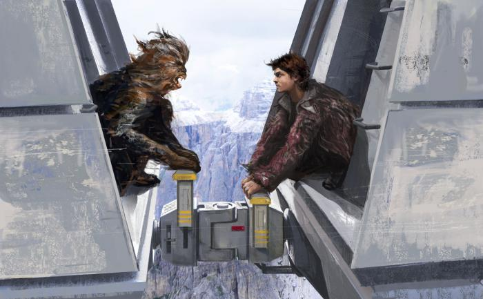 Han y Chewie en Solo: A Star Wars Story