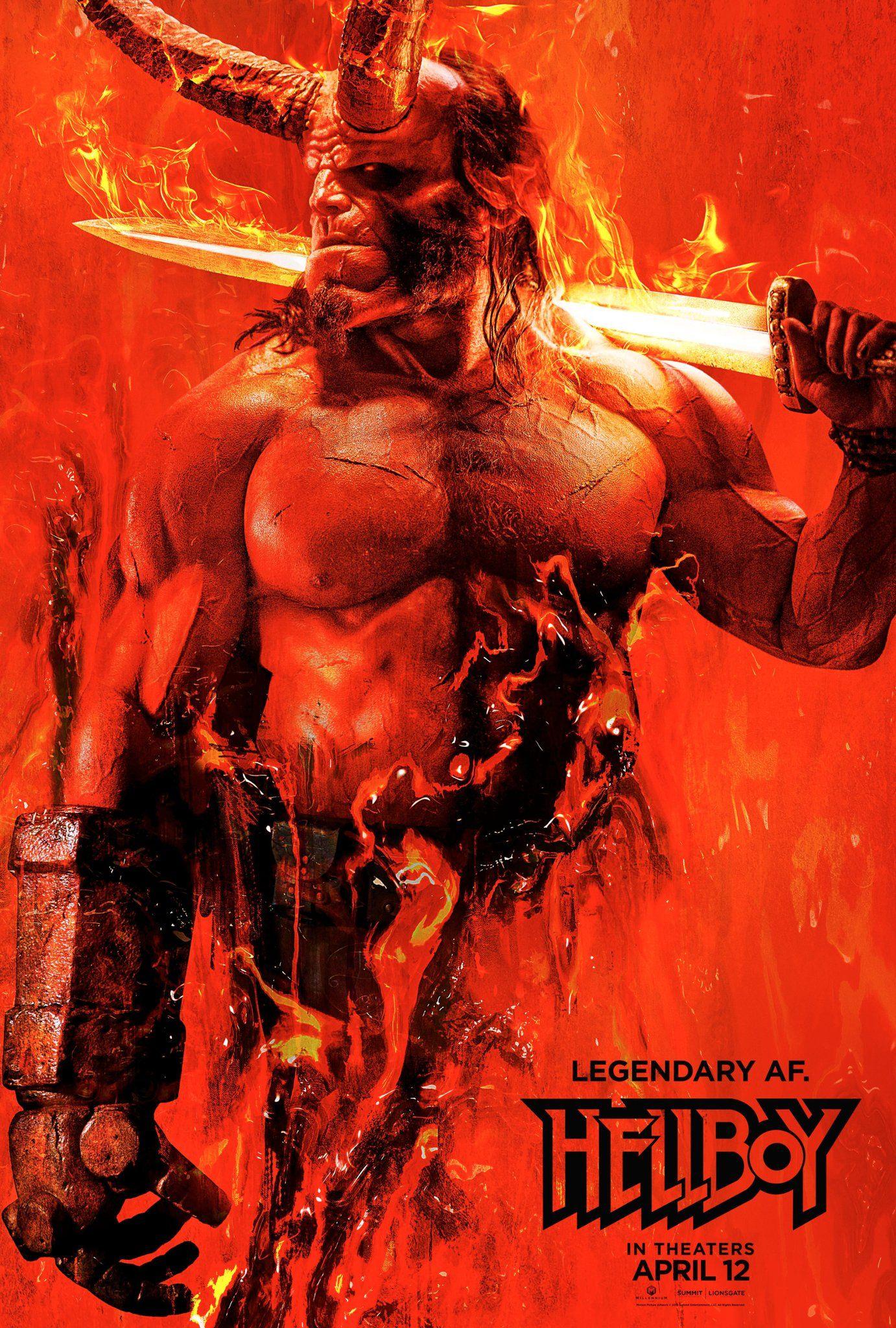 Primer póster de Hellboy