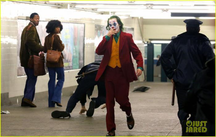 Joaquin Phoenix en el set de rodaje de Joker