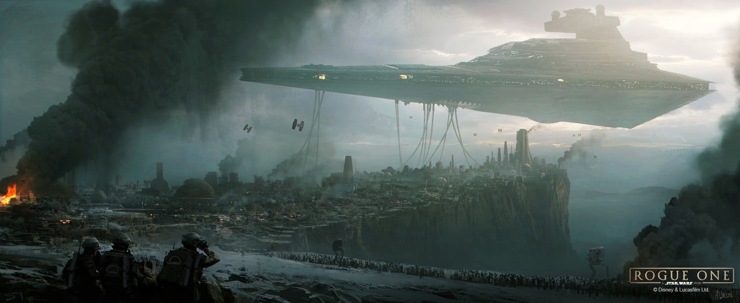 Concept Art de Rogue One realizado por Andrée Wallin