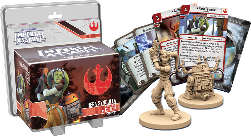 Hera Syndulla y Chopper en Imperial Assault