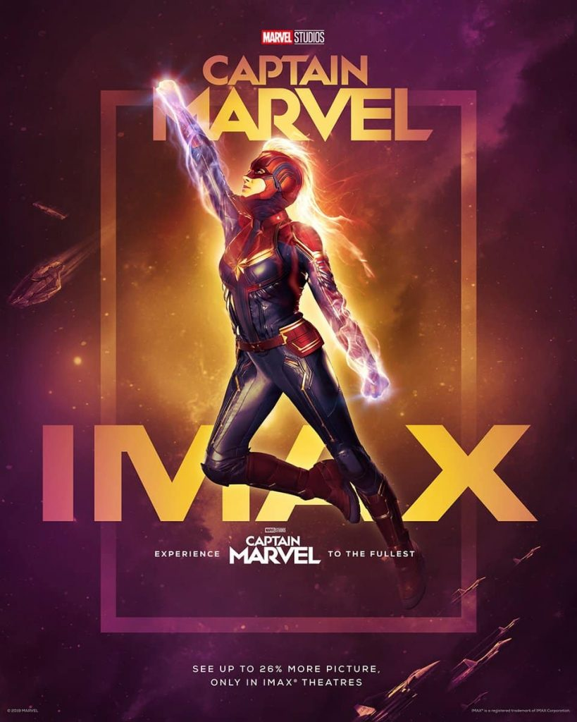 Póster IMAX de Captain Marvel