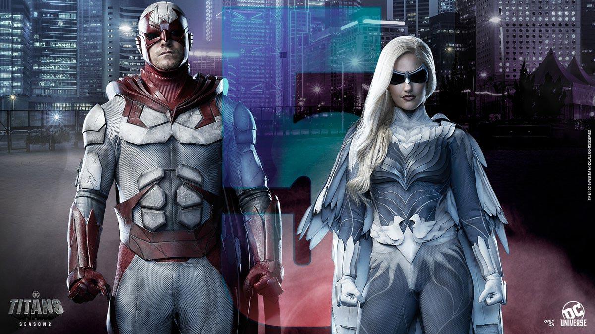 Hawk y Dove en Titans