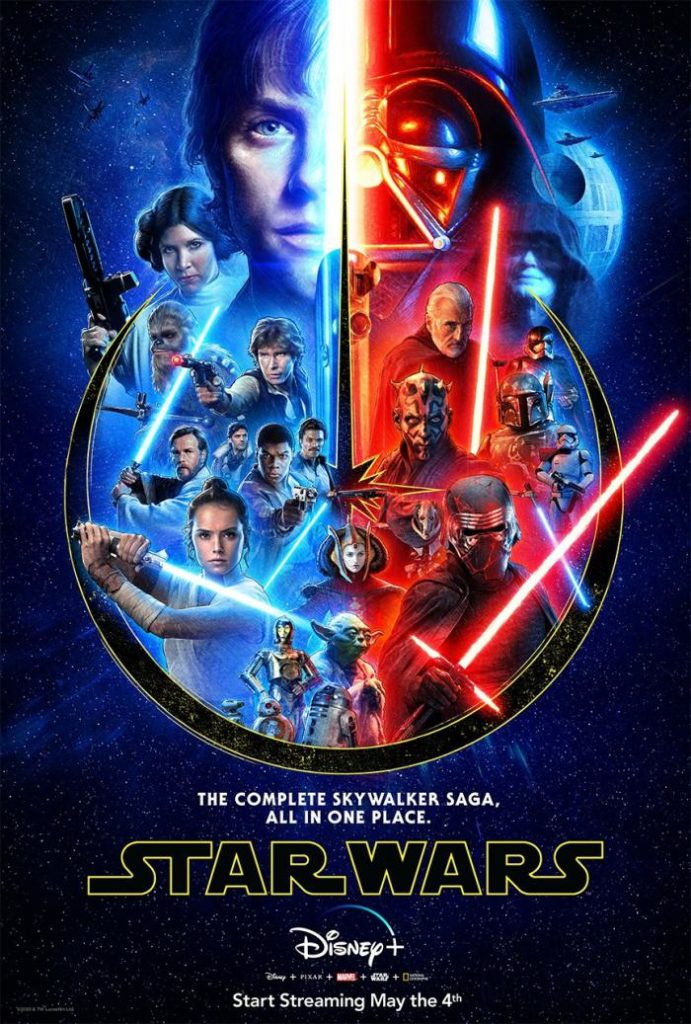 La Saga completa de Star Wars llega a Disney +