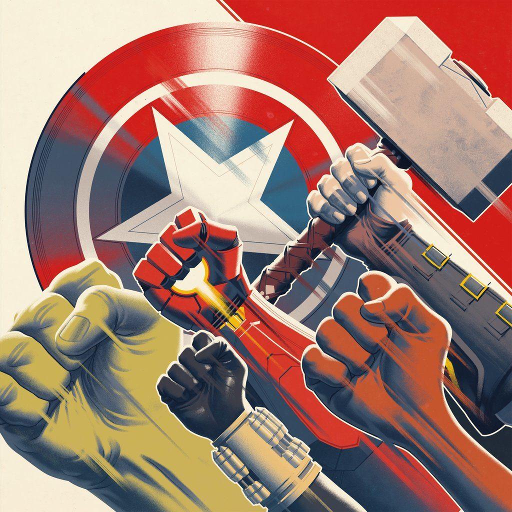 Portada de Mondo para la Banda Sonora del videojuego Marvel's Avengers