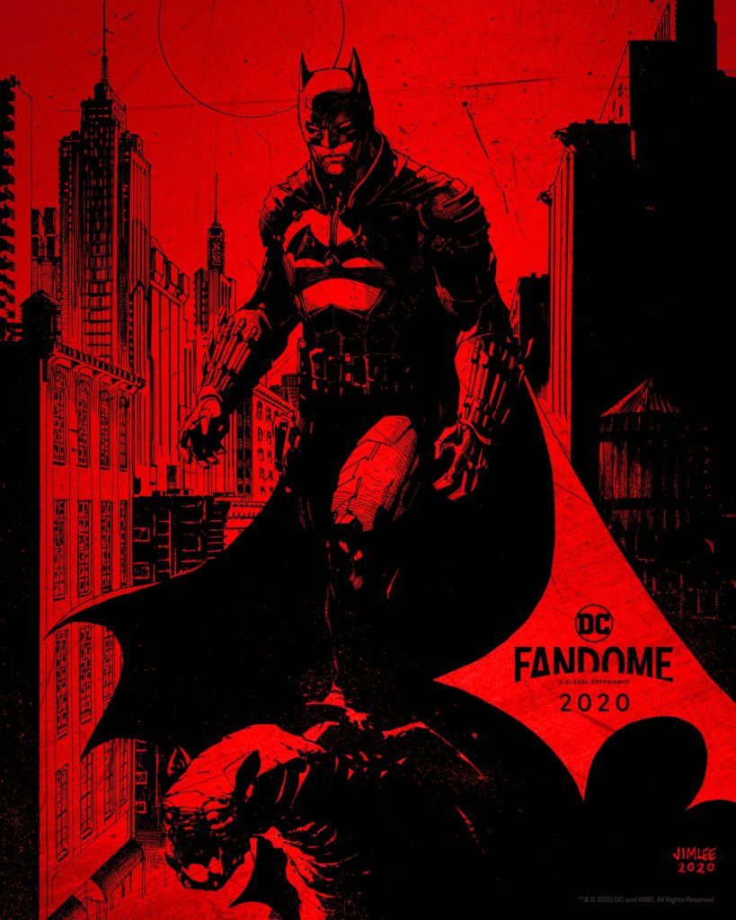 Primer póster de The Batman obra de Jim Lee
