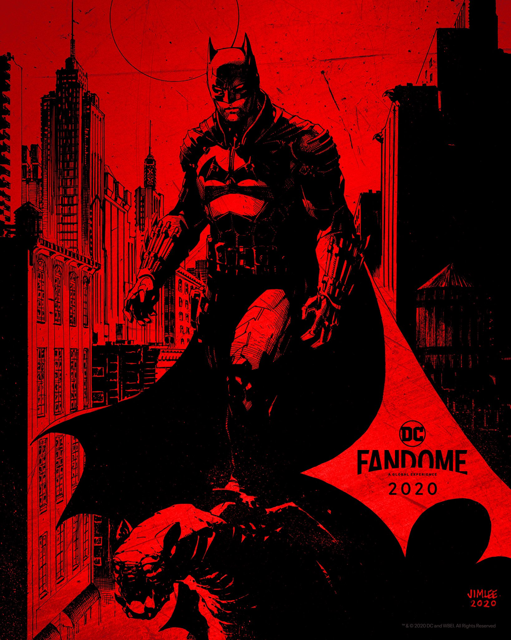 Primer póster de The Batman obra de Jim Lee