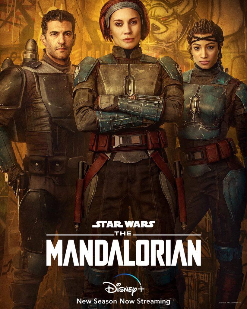 Bo-Katan Kryze, Koska Reeves y Axe Woves en la segunda temporada de The Mandalorian