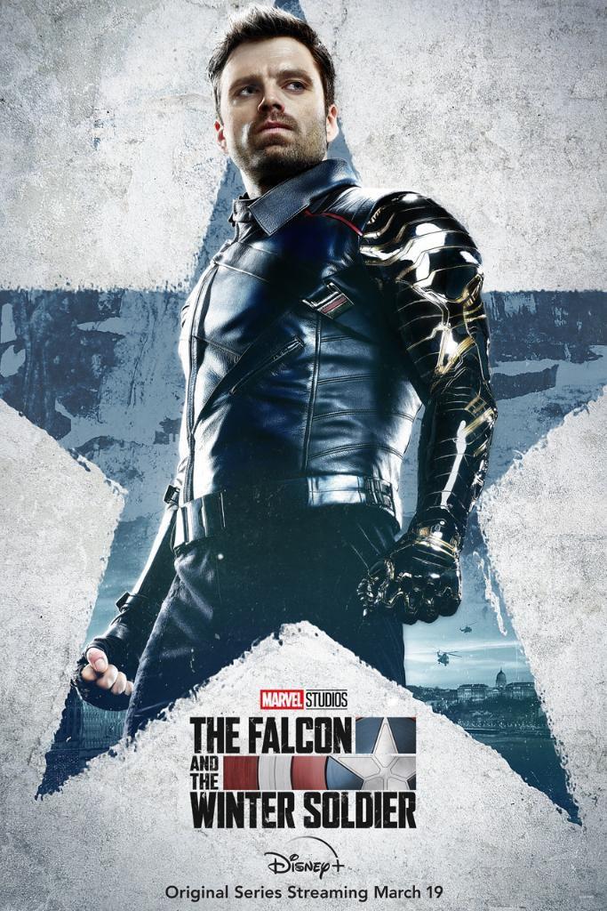 Póster de The Falcon and The Winter Soldier protagonizado por Bucky Barnes