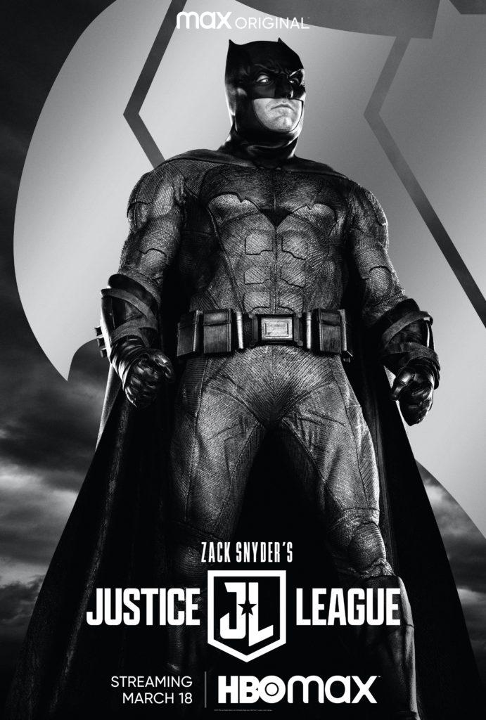 Póster de Zack Snyder's Justice League protagonizado por Batman