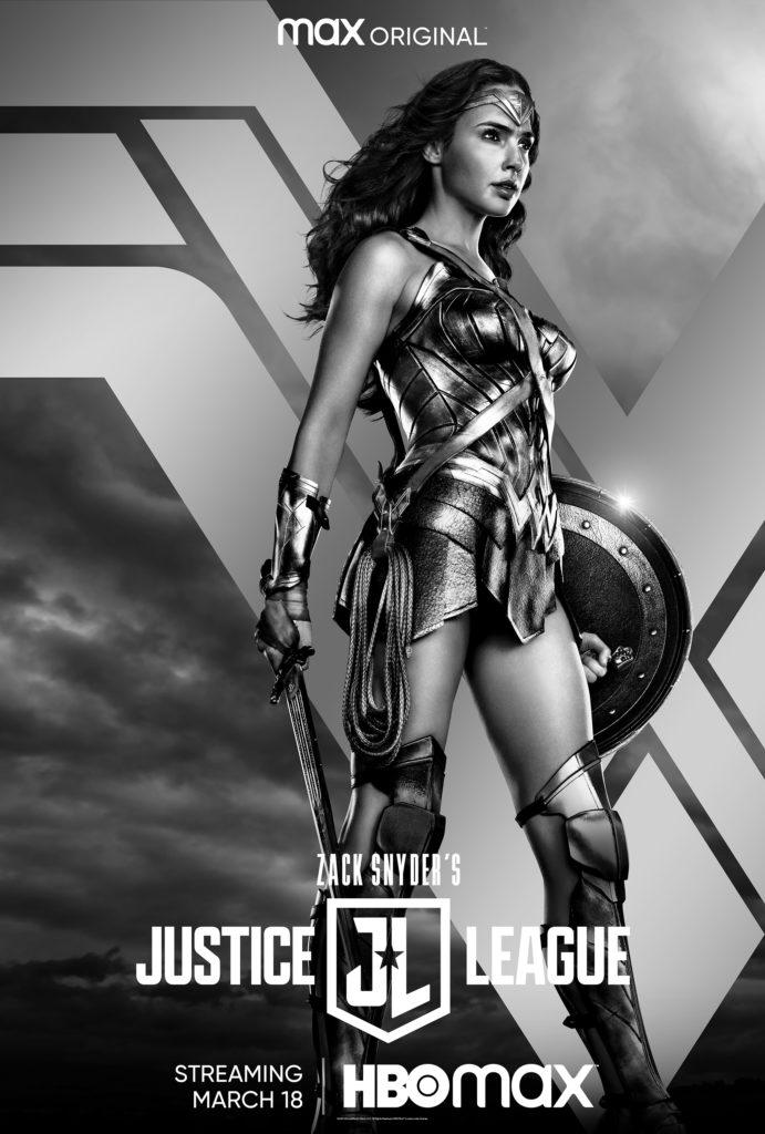 Póster de Zack Snyder's Justice League protagonizado por Wonder Woman