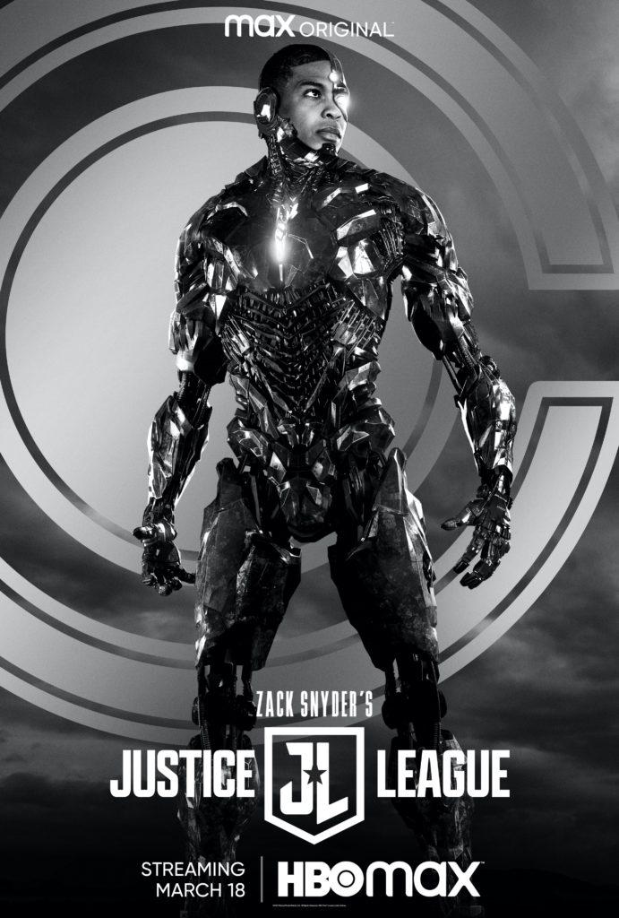 Póster de Zack Snyder's Justice League protagonizado por Cyborg