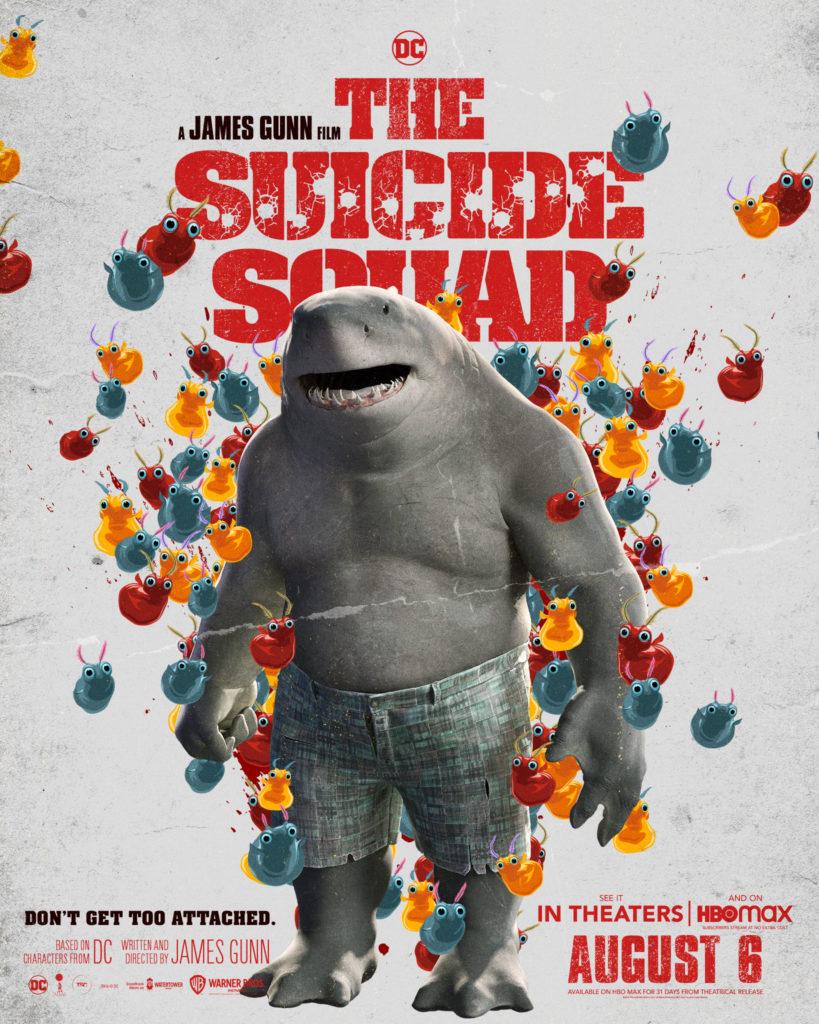 Póster protagonizado por King Shark para The Suicide Squad de James Gunn