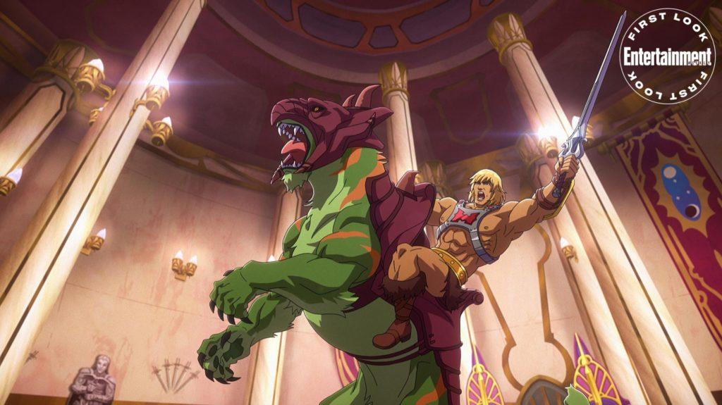He-Man y Battle Cat en Masters of the Universe: Revelation