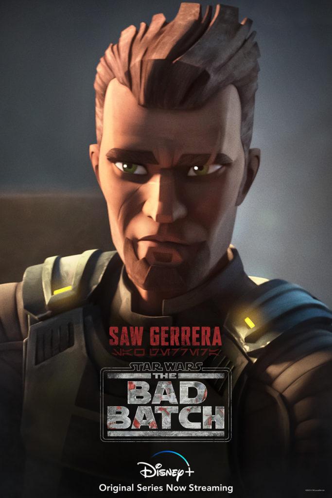 Póster de Star Wars: The Bad Batch protagonizado por Saw Gerrera